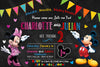Mickey & Minnie - Chalk Board - Birthday Party Invitation