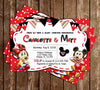Baby Mickey & Minnie Mouse - Gender Neutral - Baby Shower Invitation
