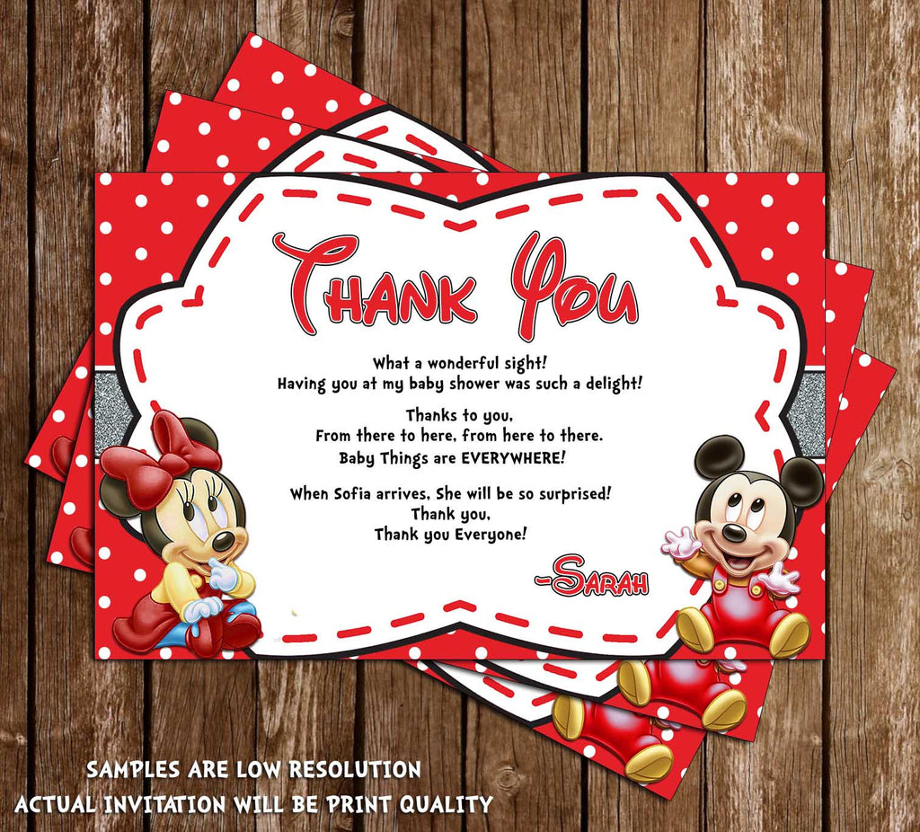 Novel Concept Designs - Baby Mickey & Minnie Mouse - Baby Shower ...