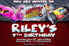 Mickey Mouse Roadsters Racers - Birthday Party Invitation