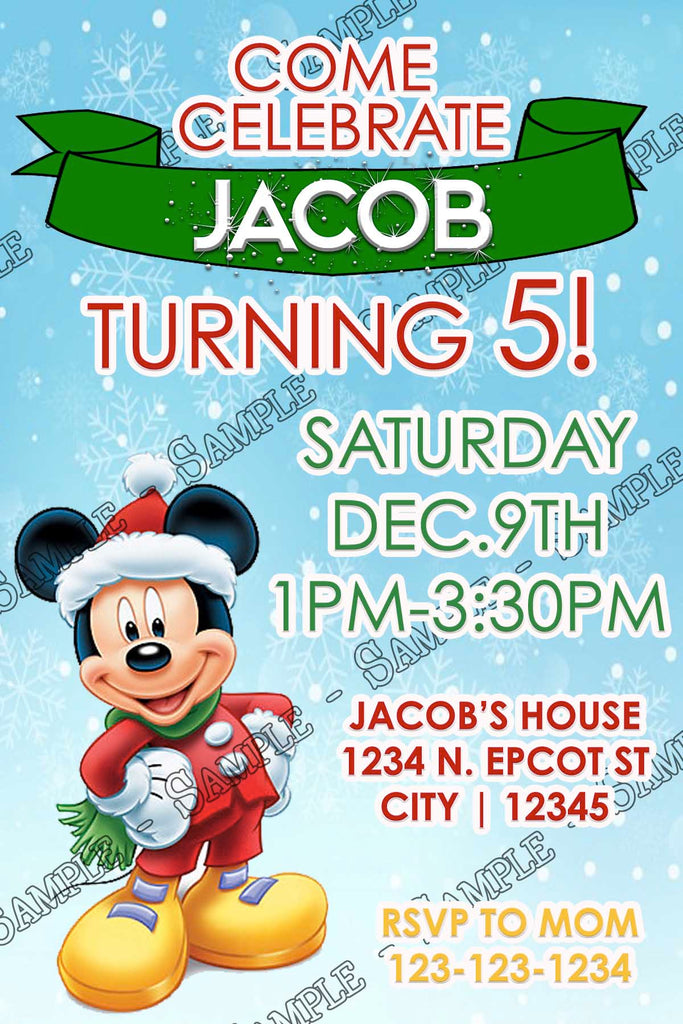 Novel concept designs mickey mouse winter birthday party mickey mouse winter birthday party invitation filmwisefo