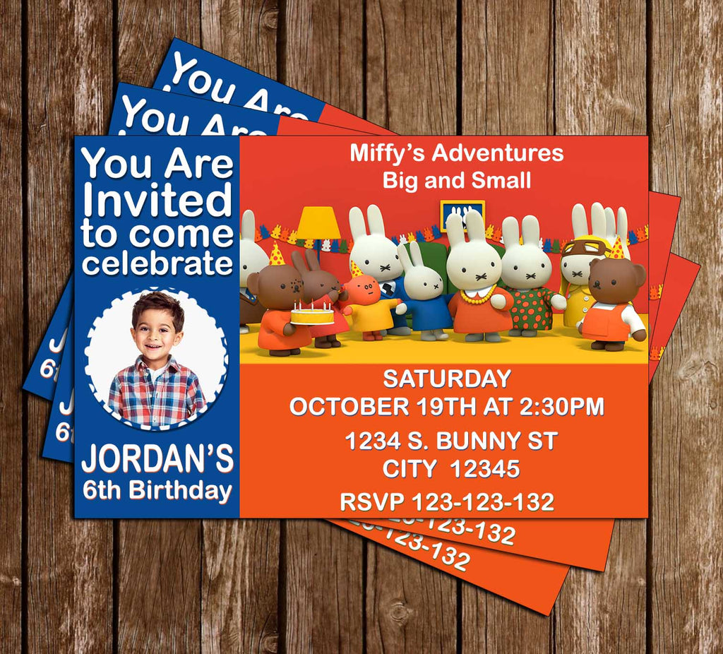 Novel concept designs miffys adventures nick jr birthday miffys adventures nick jr birthday party invitation filmwisefo Images