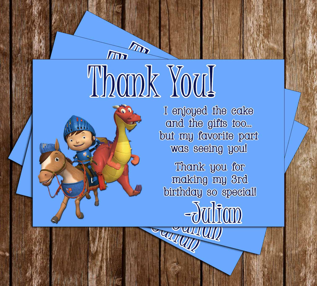 Nickelodeon Mike The Knight Birthday Thank You Card