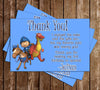 Mike The Knight Birthday Thank You Card