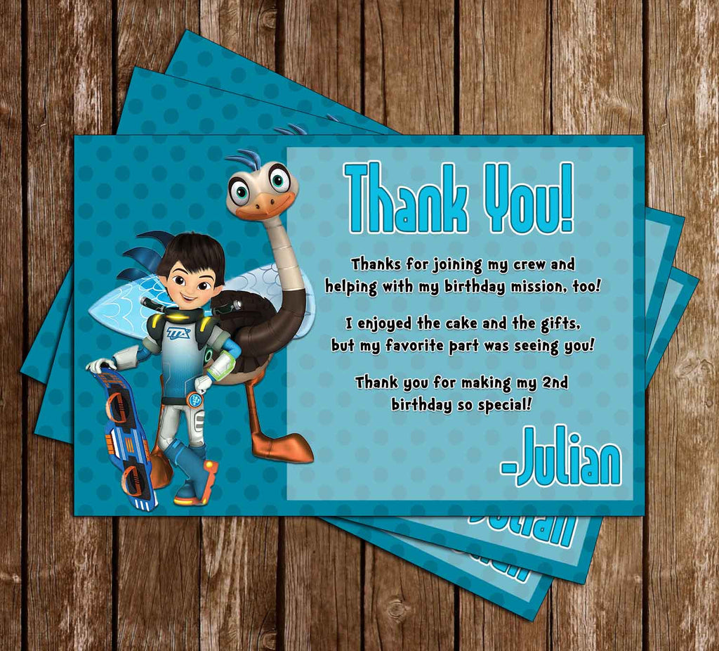 Miles from Tomorrowland - Birthday Party - Thank You Card