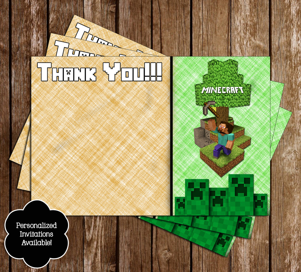 It is a graphic of Epic Minecraft Birthday Card Printable