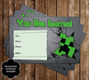 Free Minecraft Creeper Inspired Birthday Invitation Printable