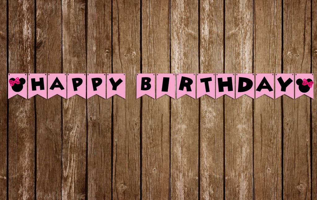 Minnie Mouse -  Birthday Party - Banner