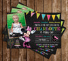 Minnie Mouse Chalkboard Birthday Invitation