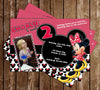 Disney Minnie Mouse Pink Photo Birthday Party Invitation