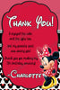 Minnie Mouse Pink Birthday Thank You Card