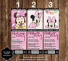 Minnie Mouse Birthday Party Ticket Invitations