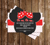 Minnie Mouse - Baby Boy - Baby Shower - Diaper Raffle Tickets