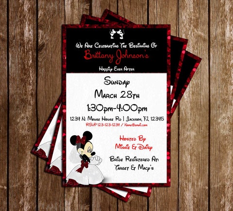 Minnie Mouse - Bridal Shower - Invitation