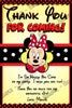 Minnie Mouse - Yellow - Polka Dots - Birthday Party Invitation