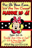 Minnie Mouse - Yellow Polka Dots - Birthday Party Invitation