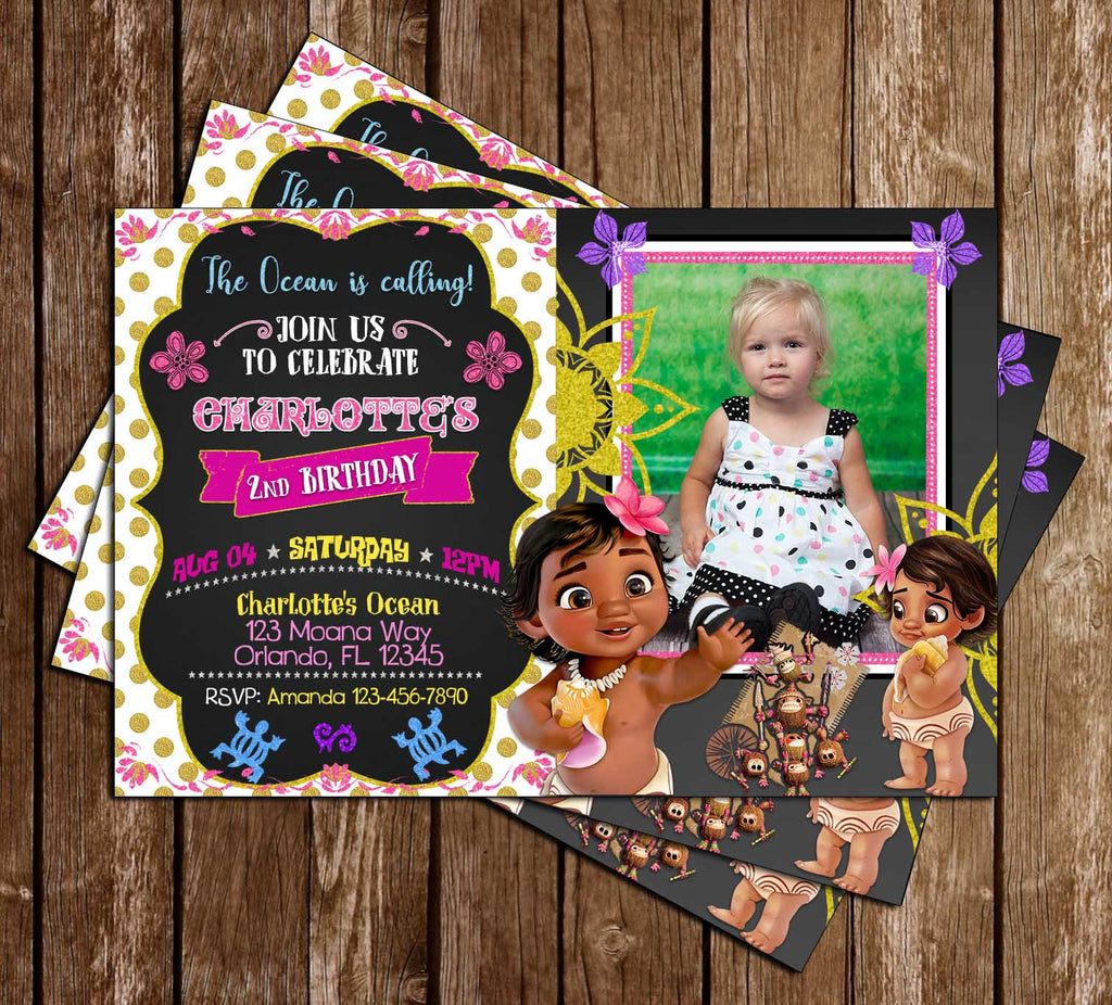 Baby Moana - Movie - Birthday Invitation