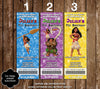 Disney's Moana - Movie - Birthday Ticket Invitations