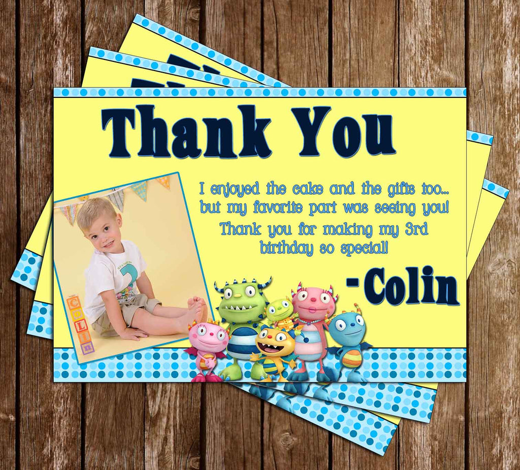 Disney Henry Hugglemonster Show Thank You Card (2 Designs)