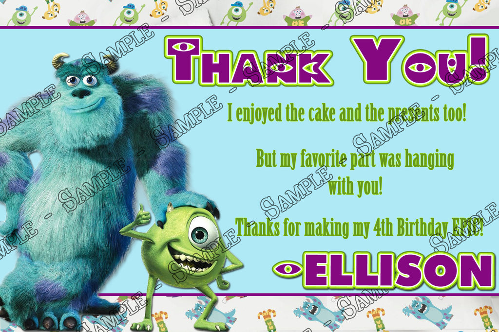 Novel Concept Designs Monsters Inc University Birthday Party