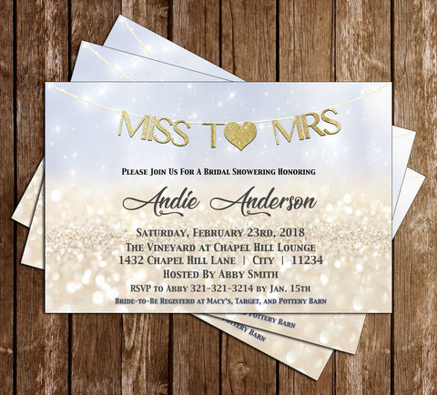 Miss to Mrs - Bridal Shower - Invitation