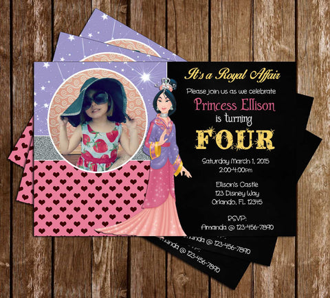 Disney Princess Mulan - Mulan Movie - Birthday Invitations