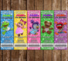 Muppet Babies - Disney Jr - Birthday Party - Ticket Invitations