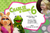 Muppets Movie - Girls -Birthday Invitation