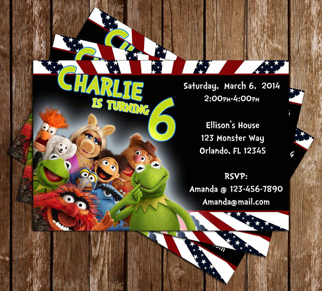 Muppets Birthday Party Invitation