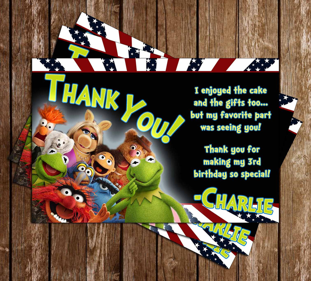 The Muppets Birthday Party Thank You Card