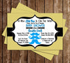 Mustache Bash Baby Shower Invitation