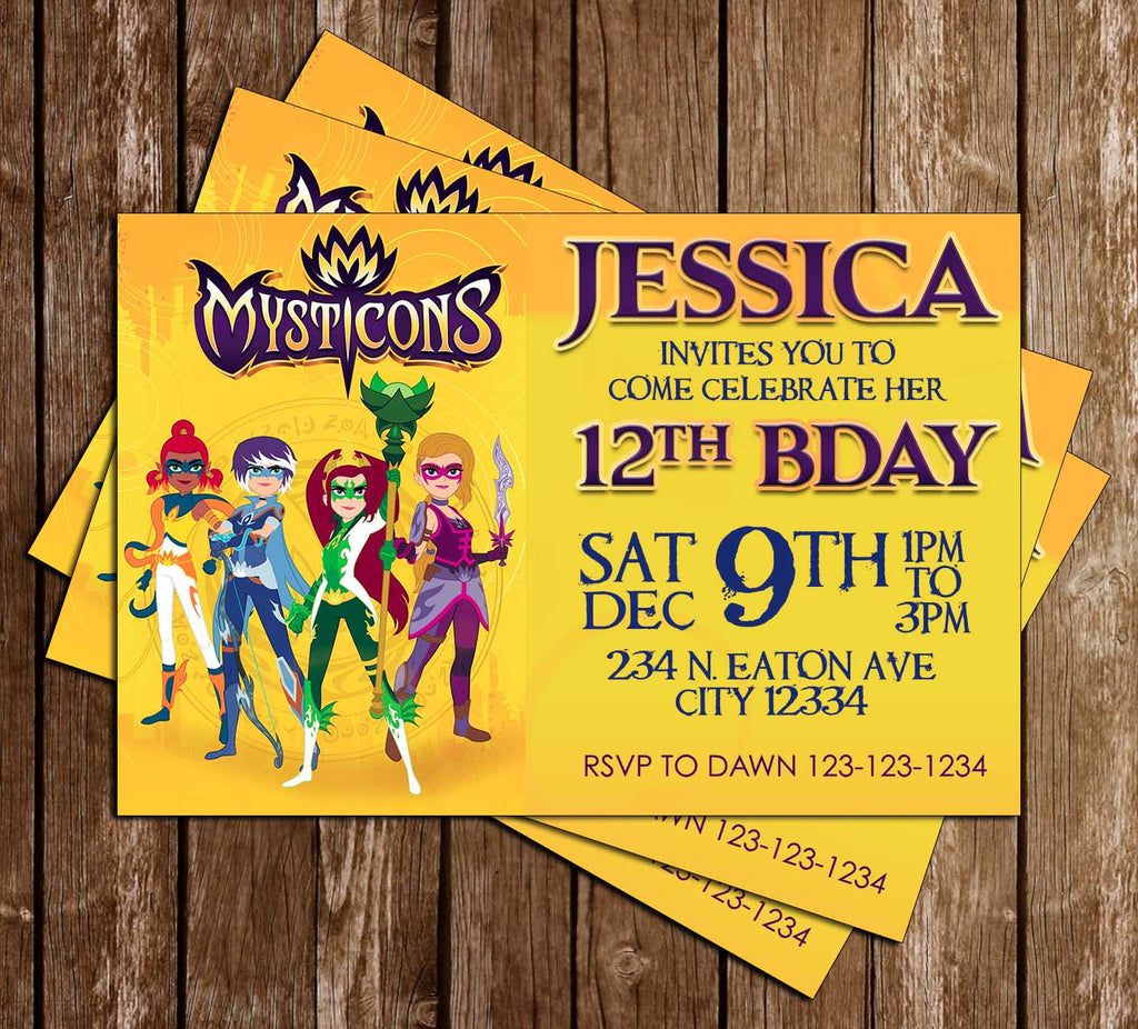 Novel concept designs mysticons birthday party invitation mysticons birthday party invitation stopboris Choice Image