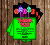 Glow in the Dark - Neon Skate - Birthday Party - Invitation