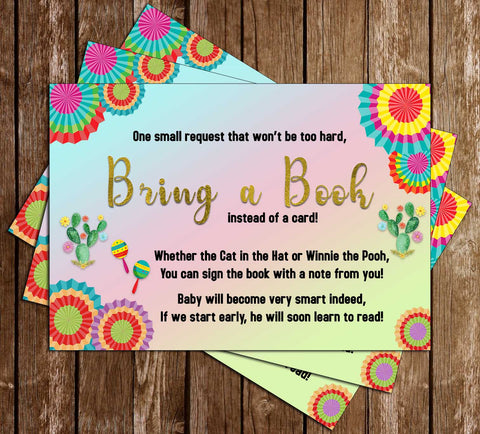 Nacho Average Baby Shower - Fiesta - Bright - Bring a Book