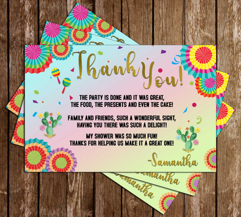 Fiesta - Nacho Average - Bridal Shower - Bright - Thank You