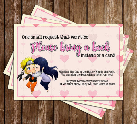 Naruto - Anime - Baby Shower - Bring a Book - Insert