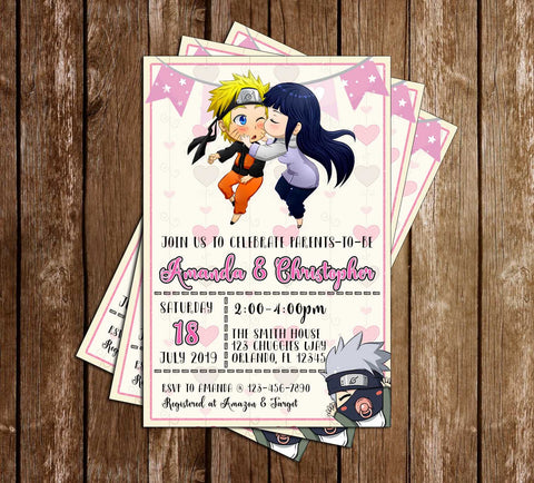 Naruto - Anime - Baby Shower - Invitation
