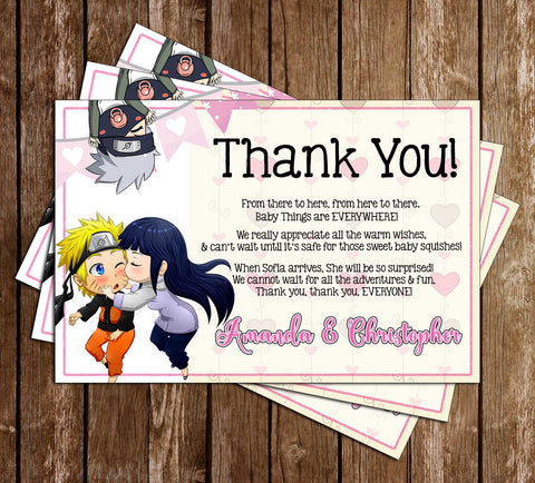 Naruto - Anime - Baby Shower - Thank You Card