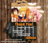 Naruto Anime Birthday Party Ticket Invitations