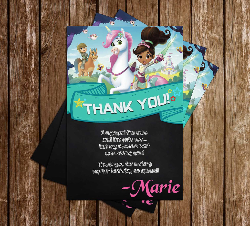 10 Personalised knights//princess Birthday Party Invitation//thank you w//envelopes