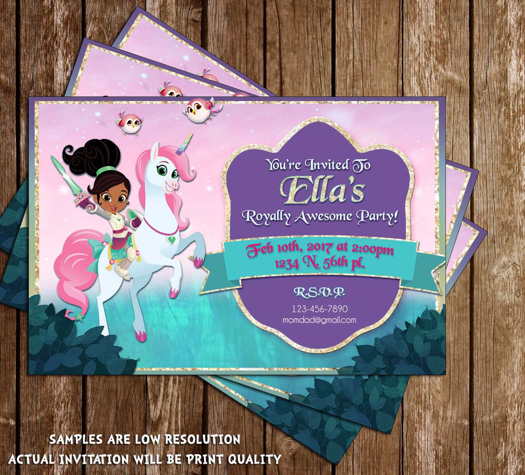 Novel Concept Designs Nella the Princess Knight Birthday Party – Princess and Knight Party Invitations