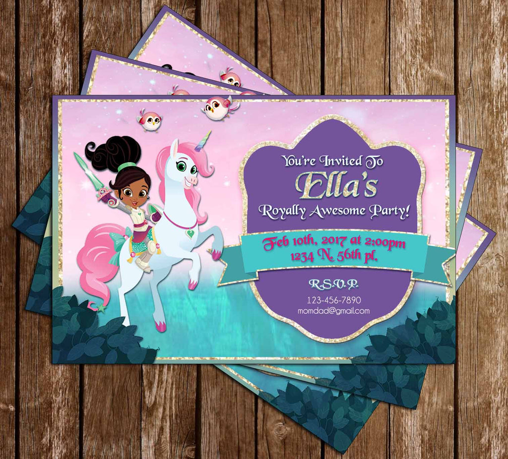 Nella the Princess Knight - Nick JR - Birthday Party - Invitation