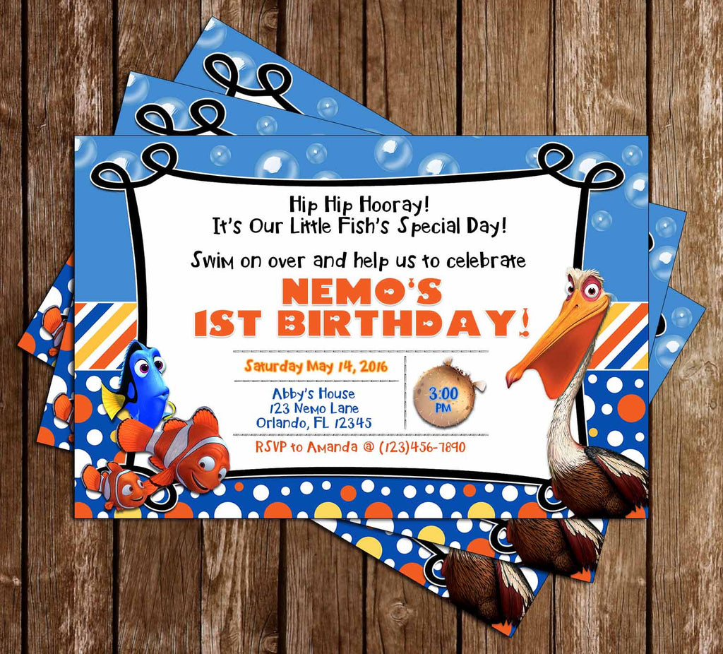 97 Finding Nemo Birthday Invitations Free