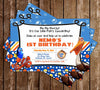 Finding Nemo - Little Fish - Birthday Party Invitation