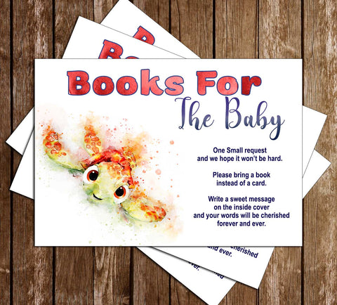 Finding Nemo - Baby Squirt - Baby Shower Bring a Book Insert