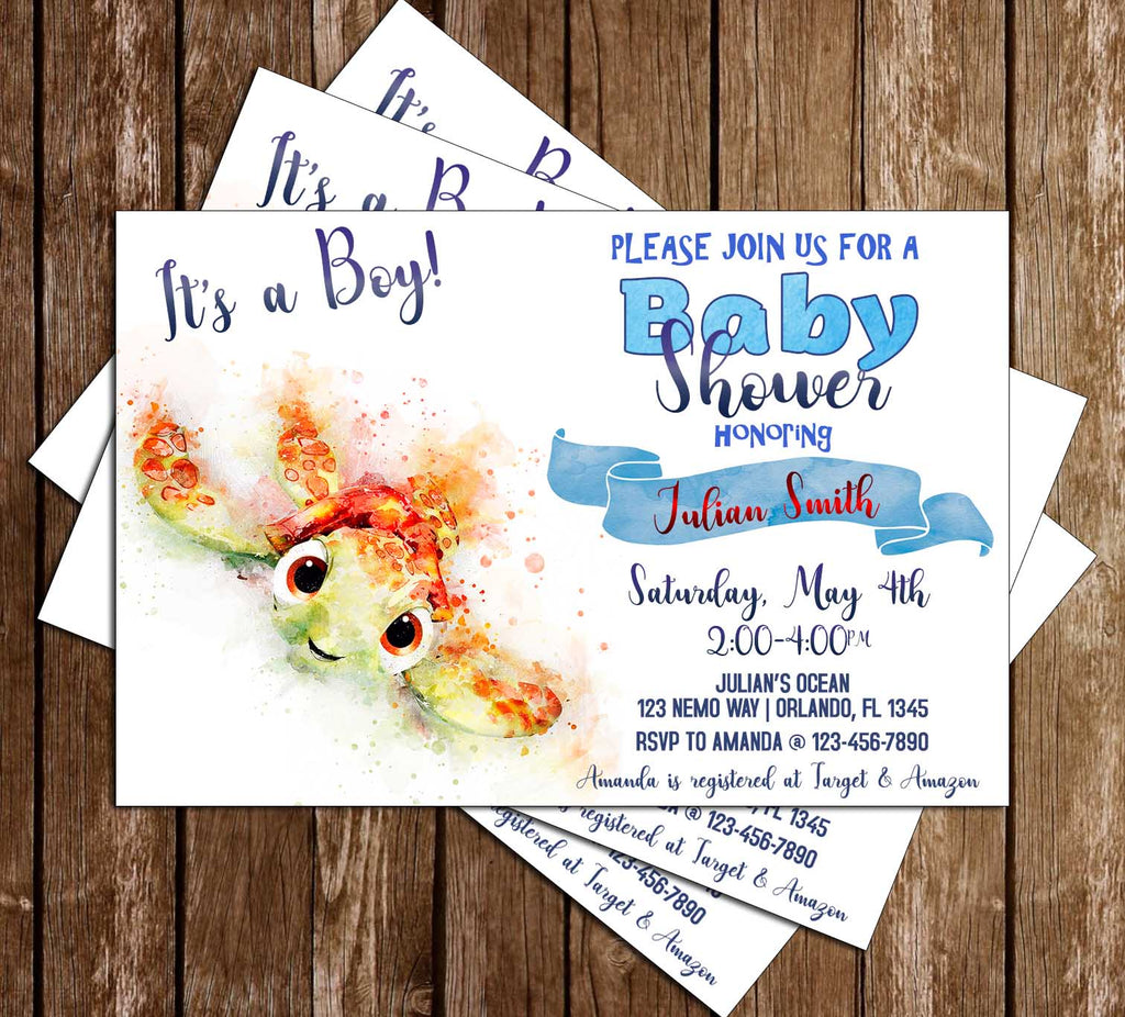 Finding Nemo - Baby Squirt - Baby Shower Invitation