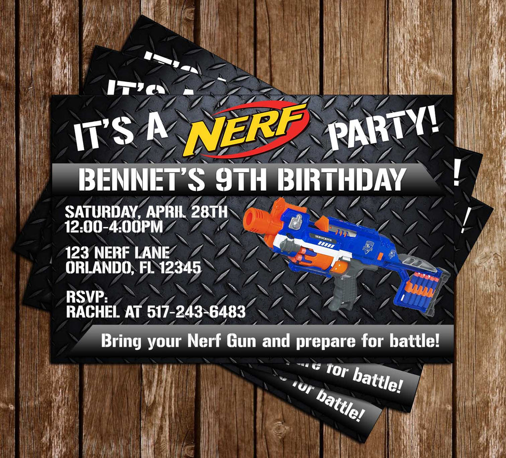 Novel Concept Designs Nerf Gun Nerf Battle Birthday Party