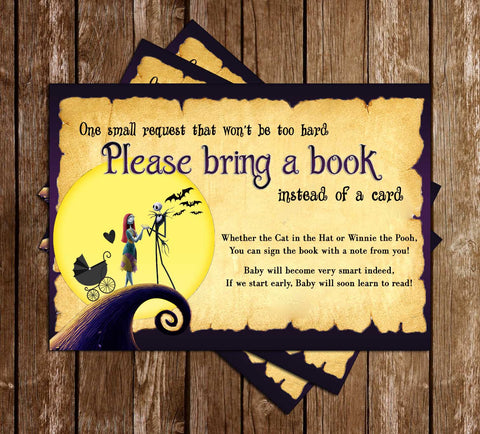 Nightmare Before Christmas - Baby Shower - Bring A Book Insert