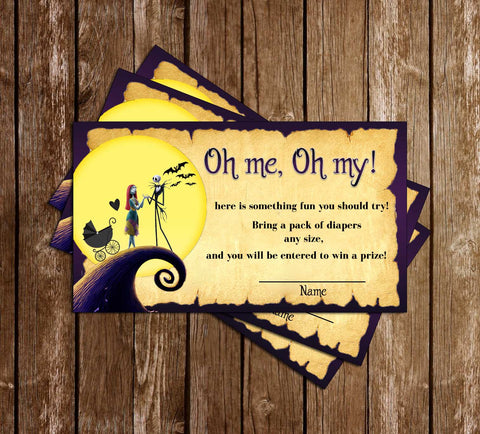 Nightmare Before Christmas - Baby Shower - Diaper Raffle Ticket