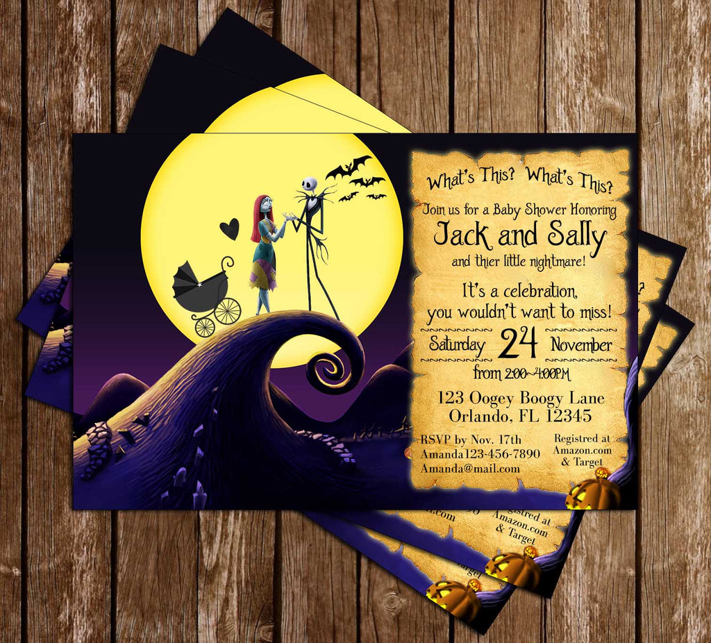 Novel Concept Designs The Nightmare Before Christmas Baby Shower